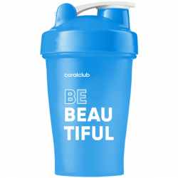 Shaker Coral Club Be Beautiful 400 ml, blue