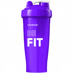 Shaker Coral Club Be fit 600 ml, violet