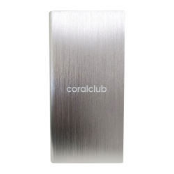 Powerbank with Coral Club logo, silver