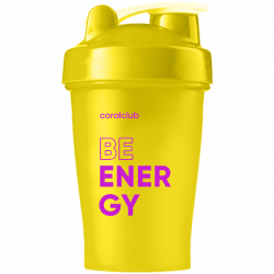 Shaker Coral Club Be energy 400 ml, yellow