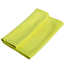 Glass cleaning cloth yellow